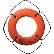 Cal-june Uscg Approved Hard Shell Series Life Ring 20 Orange Hs-20 O