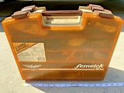 Vintage Fenwick 2 Sided Tackle Box With Tackle, Spinners, Jigs, Hooks, Worms Etc