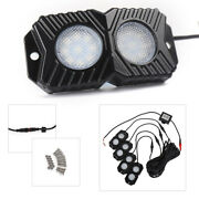 4 Pods Rgb Led Rock Lights Wireless Multi-color Fit Atv Suv Off-road