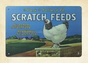 Park And Pollard Scratch Feed Metal Tin Sign Plaque Garage Signs
