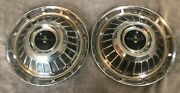 Two 1962 1963 Chevrolet Corvair Monza 900 13 Hubcaps - Hollander I5