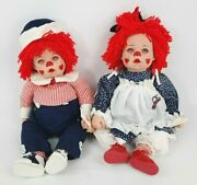 Rare Phyllis Parkinand039s The Collectables Randy And Raglund /raggedy Ann And Andy 20