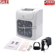 Time Card Machine Employee Time Card Clock W/ 50 Time Cards And 2 Keys And 1 Ribbon