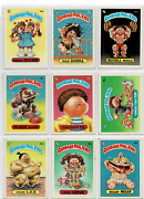 1985 Topps Lot Of 9 Garbage Pail Kids Cards / Stickers Vg - Exc. +
