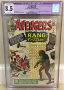 Avengers 8 Cgc 8.5 1st Appearance Of Kang The Conqueror Cover Trimmed Stan Lee