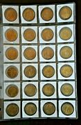 Catalinastamps 1984 Los Angeles Olympic Coin Set, 24 Coins, Lot O1-24