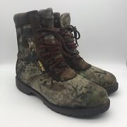 Rocky Bobcat Thinsulate Gore-tex Waterproof Hunting Boots Mossy Oak Sz 11.5 Us