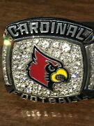 Louisville Cardinals Football 2016 Acc Co-atl. Champs Citrus Bowl Player Ring