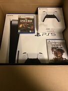 Sony Playstation 5 Disc Console Bundle Extra Controller Spider-man Call Of Duty