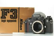 [unused Boxed S/n199xxxx] Nikon F3 Hp Late 35mm Film Camera Body From Japan D40