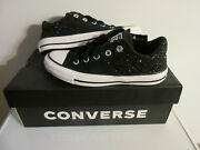Womanand039s Converse 566312c Ctas Madison Ox Shoes Black Glitter Size 6 7 New