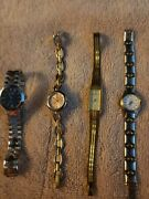 Womens Preowned Watches 4 Lot