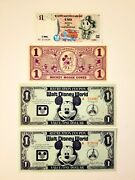 Disney Dollars 1930s Cone 1971 And 1972 1 Coupons 1997 Italy Duck 1 Dollar