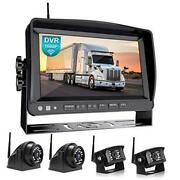 1080p 9 Wireless Backup Camera System Kit 9 Hd Quad Split Monitor With