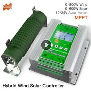 1400w Mppt Wind Solar Hybrid Booster Charge Controller 12/24v Auto-apply Wind