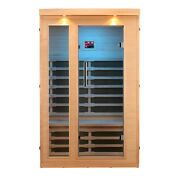 Hemlock Wood Canadian Infrared Heated 2 Person Low Emf Heater Panel Color Light