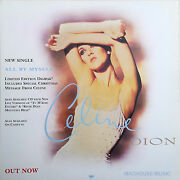 Celine Dion Display Card All By Myself Uk Promo Only Rare 12 X 12 Poster