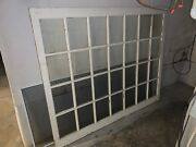 Solid Wood Window Frame With 28 Glass Panes Size 671/2 X 551/4andnbsp