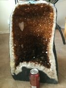 Citrine Cathedral Geode Tower With Calcite, 122 Lbs, Local Pickup Only In Dfw Tx