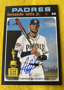 2020 Topps Heritage Fernando Tatis Jr. Real One Auto 2nd Year Rookie Cup Raw 🔥