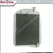 3 Row Aluminum Radiator Fit 1941 42 43 44 45 1946 Chevy Pickup Truck 6cyl Cc4146