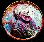 1936 D Lincoln Wheat Penny Cent- Beautiful Toning Superb Gem High Grade 07