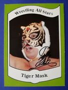 1983 Wrestling All Stars Tiger Mask Signed Autograph Rookie Card Rc Japanese Nwa