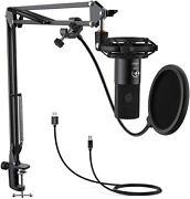 Fifine T669 Usb Microphone Condenser With Arm Stand Pop Guard Ab Type Usb Pc