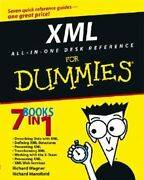 Xml All In One Desk Reference For Dummies By Richard Wagner New