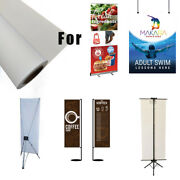 Retractable Banner Stand Canvas Roll Eco-solvent Curl-free Block-out White-back