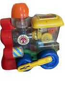 Lil Toot Toy Train Engine By Ideal Wind Up Toy 328 No Key Plastic Vintage