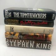 Stephen King 5 Hardcover Book Lot Tommyknockers Dolores Claiborn Fire-starter