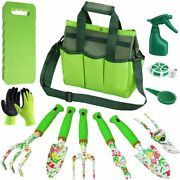 Garden Tool Set Heavy Duty Gardening Tools Kit For Men And Women With Hand Tote