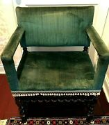 Antique Jacobean Turned Wood Colbyand039s Armchair Signed And Numbered