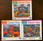 Lot Of 3 - Jigsaw Puzzle Factory Classic Puzzle 750 Pieces By John Roy -lot Of 3