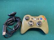 Microsoft Xbox 360 Wireless Green Halo 3 Special Edition Controller And Cable