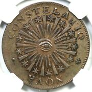 1783 C.3-c R-3 Ngc Ms 63+ Bn Blunt Rays Nova Constellatio Colonial Copper Coin