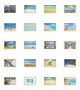 Ambesonne Beach Scene Wall Art With Wide Frame For Bathrooms Living Room