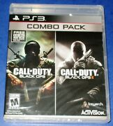 Call Of Duty Black Ops 1 And 2 Sony Ps3 New Factory Sealed Free Shipping