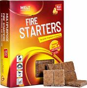 Fire Starters Big Pack 160 Squares Charcoal Starter For Grillscampfirefireplac