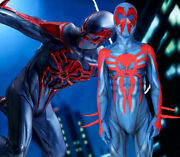Us Stock Ultimate Spider-man 2099 Miguel Oand039hara Zentai Jumpsuits Cosplay Costume