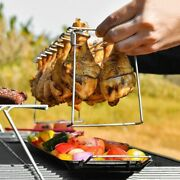 Bbq Grill Rack Non-stick Beef Chicken Wing Smoker Oven Stainless Steel Holder
