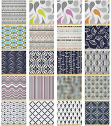 Ambesonne Geometric Nature Microfiber Fabric By The Yard For Arts And Crafts