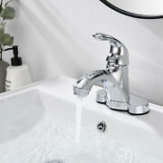 4'' Chrome Bathroom Sink Basin Faucet Lavatory Vanity Mixer Tap Fit 2 And 3 Holes