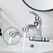 4and039and039 Chrome Bathroom Sink Basin Faucet Lavatory Vanity Mixer Tap Fit 2 And 3 Holes