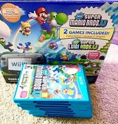 Nintendo Wiiu Console With Super Mario 3d World And Nintendo Land 32gb And Games