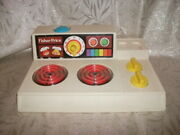 Fisher Price-vintage-1978 Toy Cook Stove,dishes, Pans,utensils,guc.,see Photos