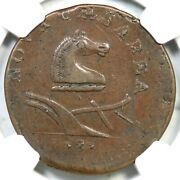1787 38-c R-3 Ngc Xf 40 No Plow Sprig New Jersey Colonial Copper Coin