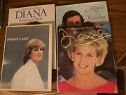 Lot Of 4 Hardcover Books On Princess Diana A Tribute To The Peoples Princess
