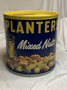 Vtg Planters Mixed Nuts Mr. Peanut Store Display Advertising Peanuts Can Old
